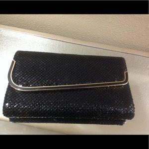 Handbags - Vintage black and gold large clutch